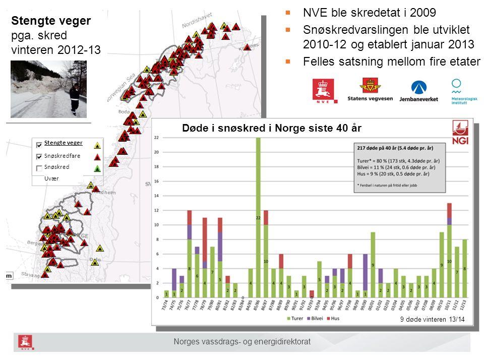 Norges vassdrags- og energidirektorat 2 Stengte veger pga.