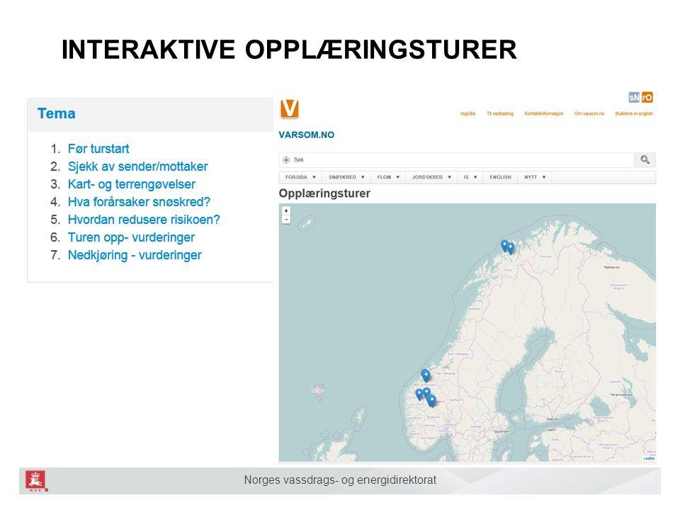 Norges vassdrags- og energidirektorat INTERAKTIVE OPPLÆRINGSTURER