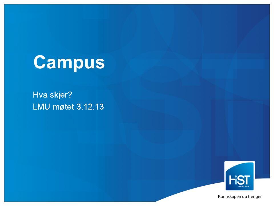 Campus Hva skjer? LMU møtet 3.12.13