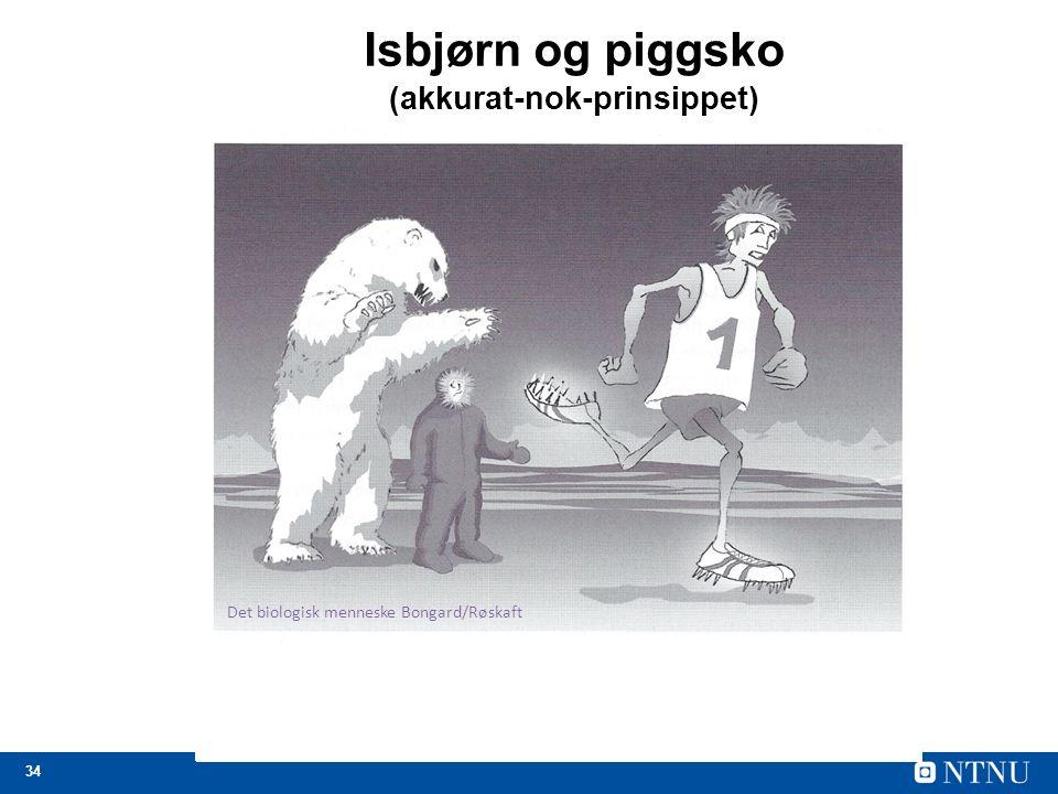 34 Isbjørn og piggsko (akkurat-nok-prinsippet) Det biologisk menneske Bongard/Røskaft