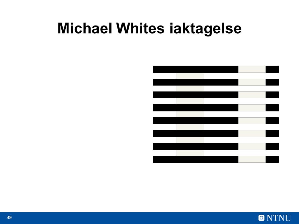 49 Michael Whites iaktagelse
