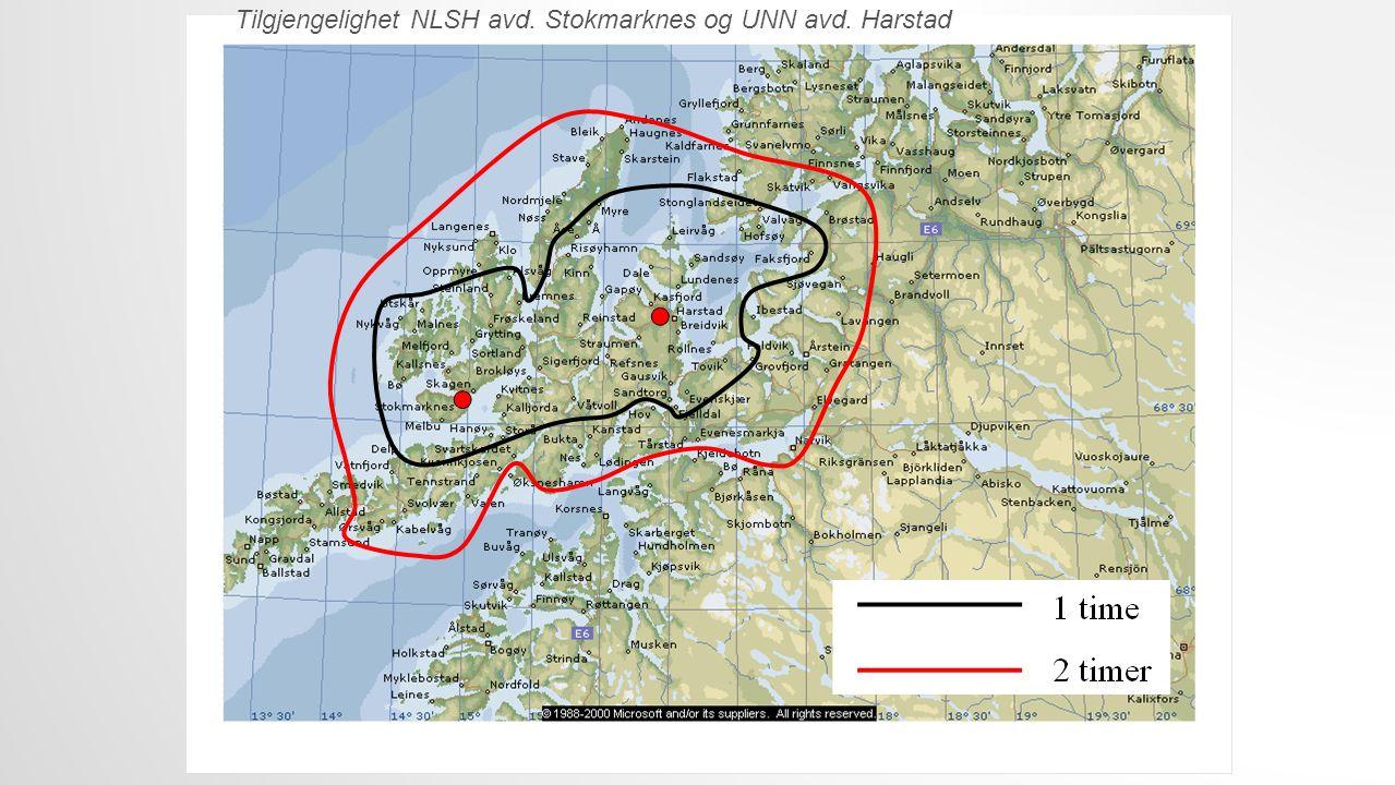 Tilgjengelighet NLSH avd. Stokmarknes og UNN avd. Harstad