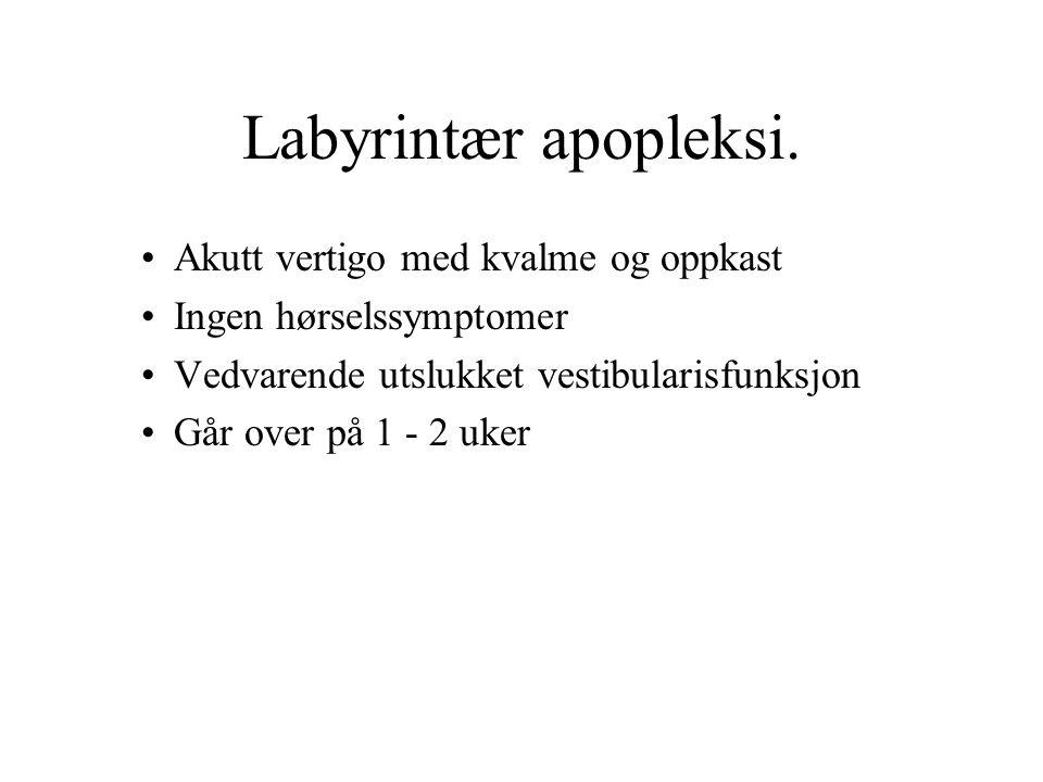 Labyrintær apopleksi.