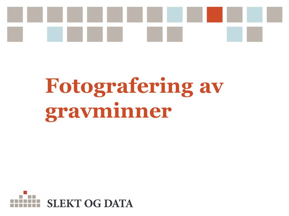 Fotografering av gravminner