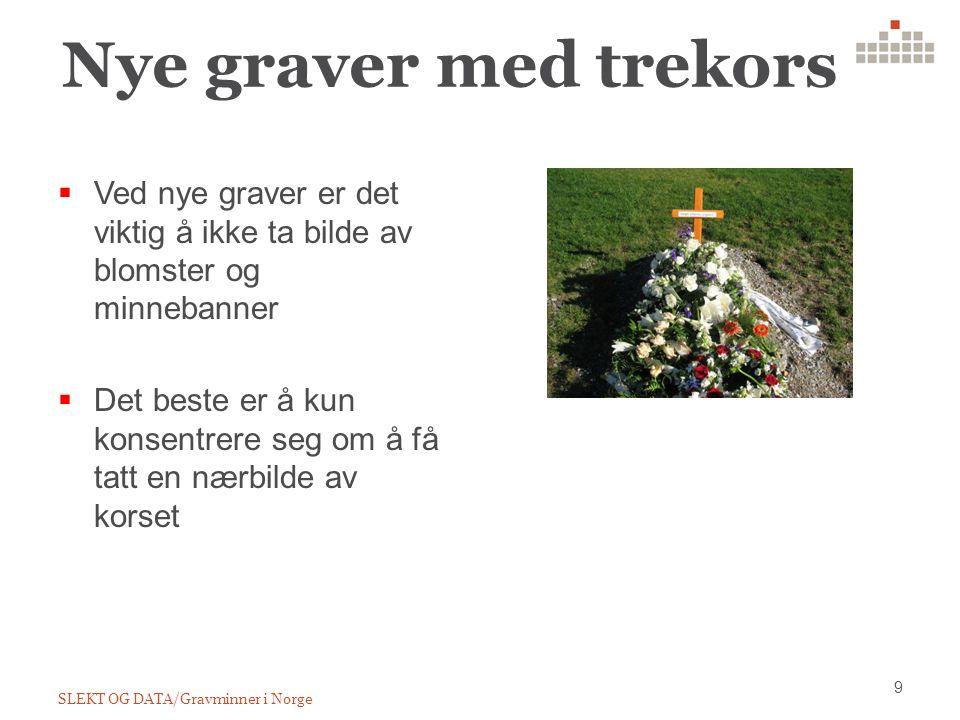 Nye graver med trekors 9 SLEKT OG DATA/Gravminner i Norge  Ved nye graver er det viktig å ikke ta bilde av blomster og minnebanner  Det beste er å kun konsentrere seg om å få tatt en nærbilde av korset