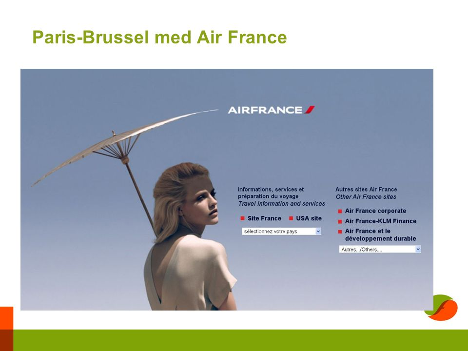 Paris-Brussel med Air France