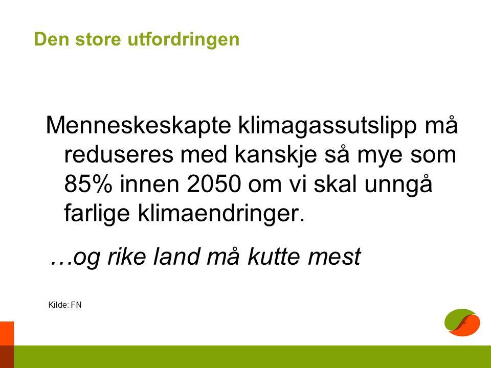 Transportsektoren står for 32 prosent av de norske utslippene