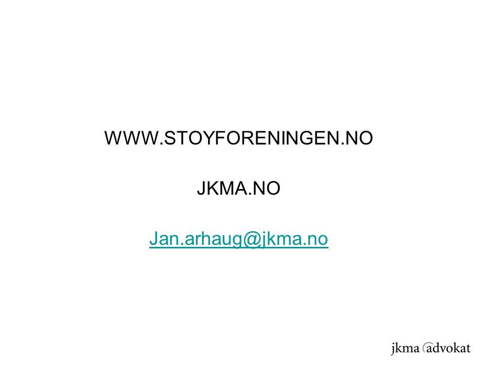 WWW.STOYFORENINGEN.NO JKMA.NO Jan.arhaug@jkma.no