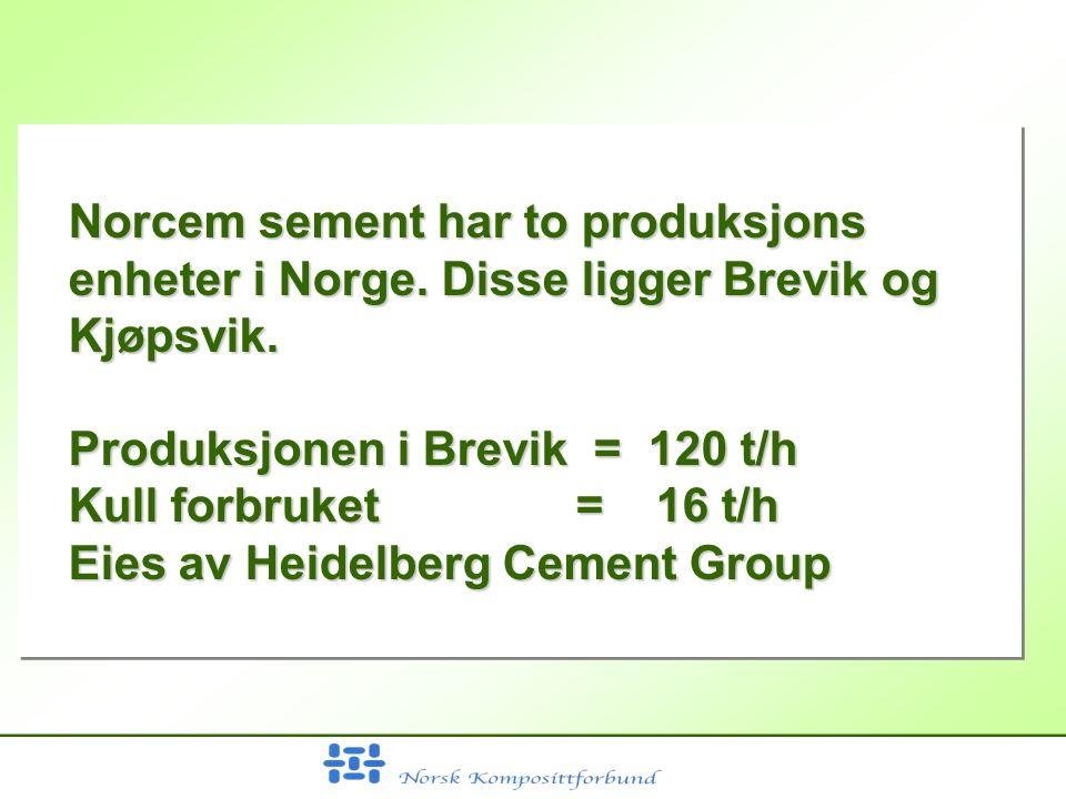 Norcem sement har to produksjons enheter i Norge. Disse ligger Brevik og Kjøpsvik.
