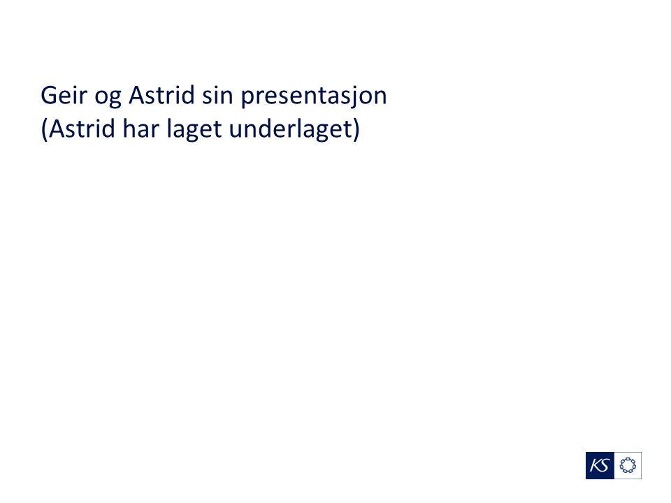 Geir og Astrid sin presentasjon (Astrid har laget underlaget)