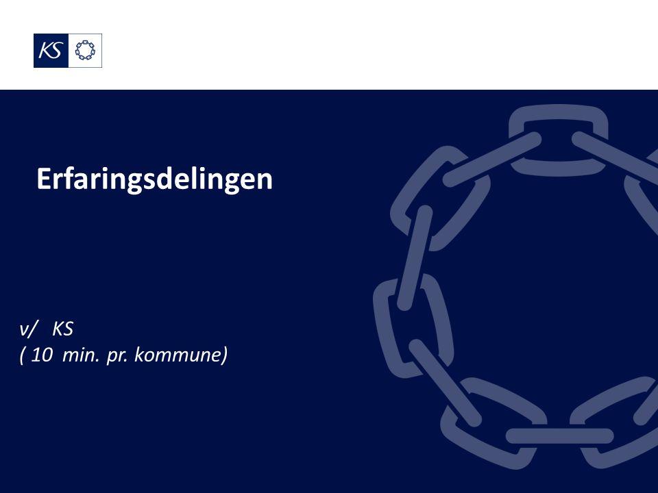Erfaringsdelingen v/ KS ( 10 min. pr. kommune)