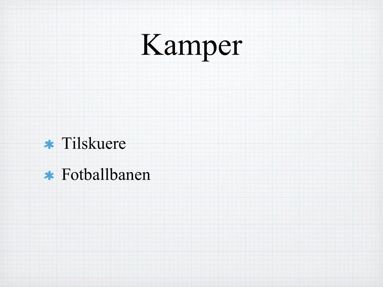 Kamper Tilskuere Fotballbanen