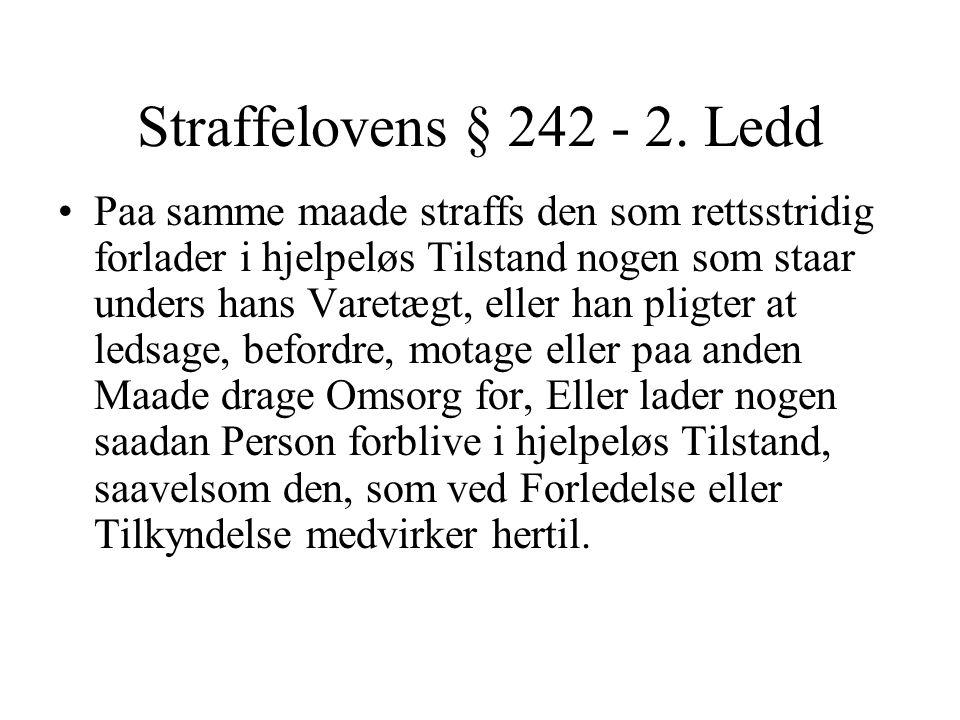 Straffelovens § 242 - 2.