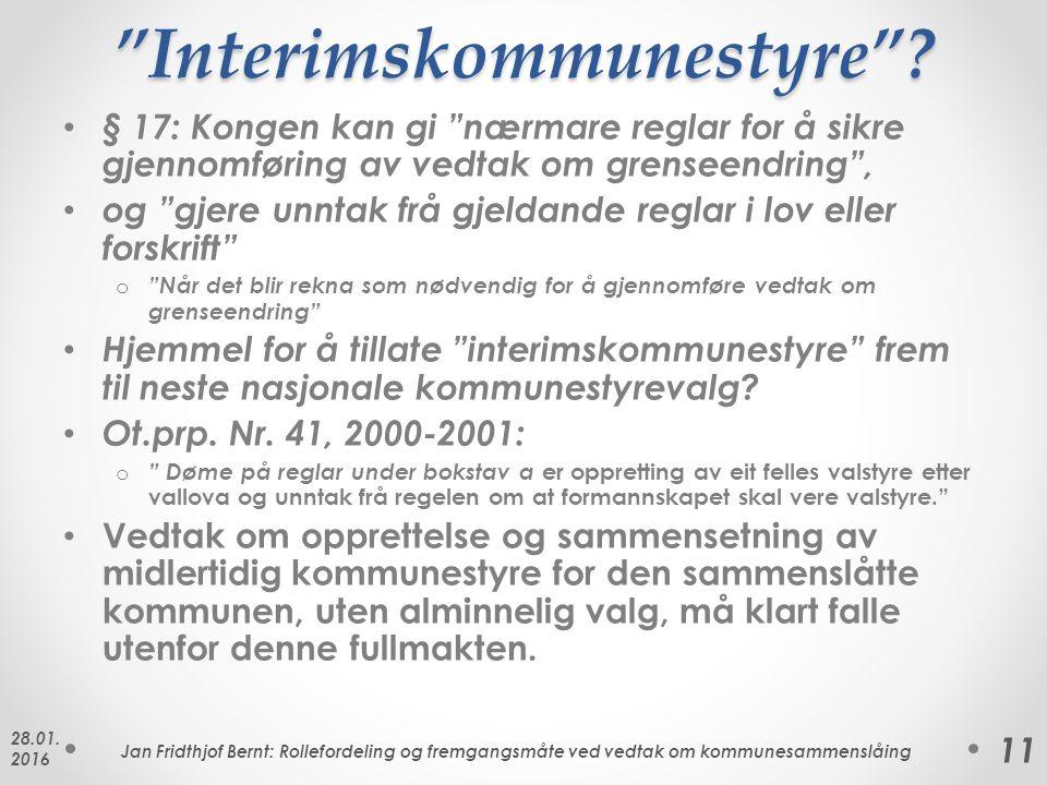 Interimskommunestyre .
