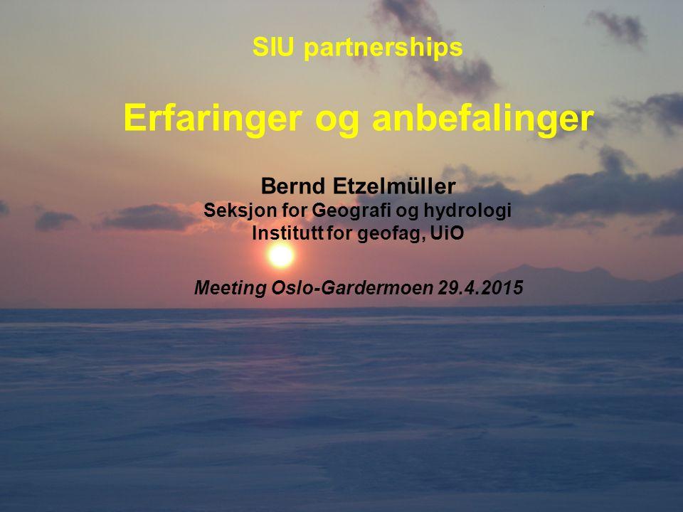 Kortere opphold (< 4 uker) gir større interesse (særlig master) enn lange, selv om UD/SIU vil ha lengre opphold (3 måneder +) Hvordan får norske studenter til et sted der det ikke er strand eller fjell eller en kul storby....