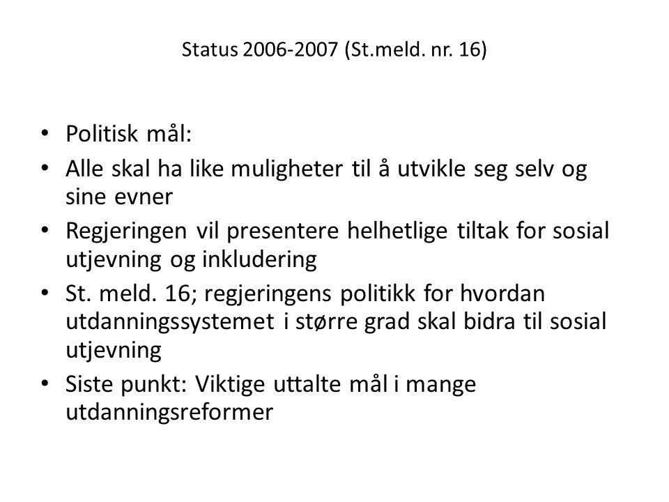 Status 2006-2007 (St.meld. nr.