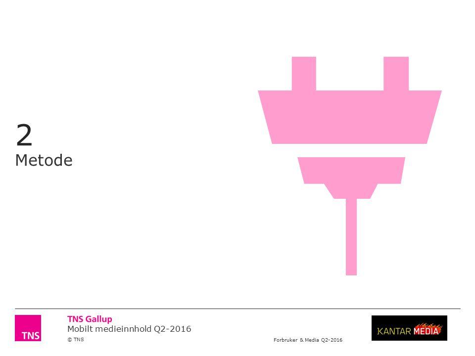 Mobilt medieinnhold Q2-2016 © TNS Forbruker & Media Q2-2016 Ukentlig dekning for mobile innholdsleverandører Regionale og lokale titler 3/4 NB.