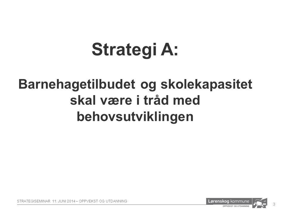 STRATEGISEMINAR 11.