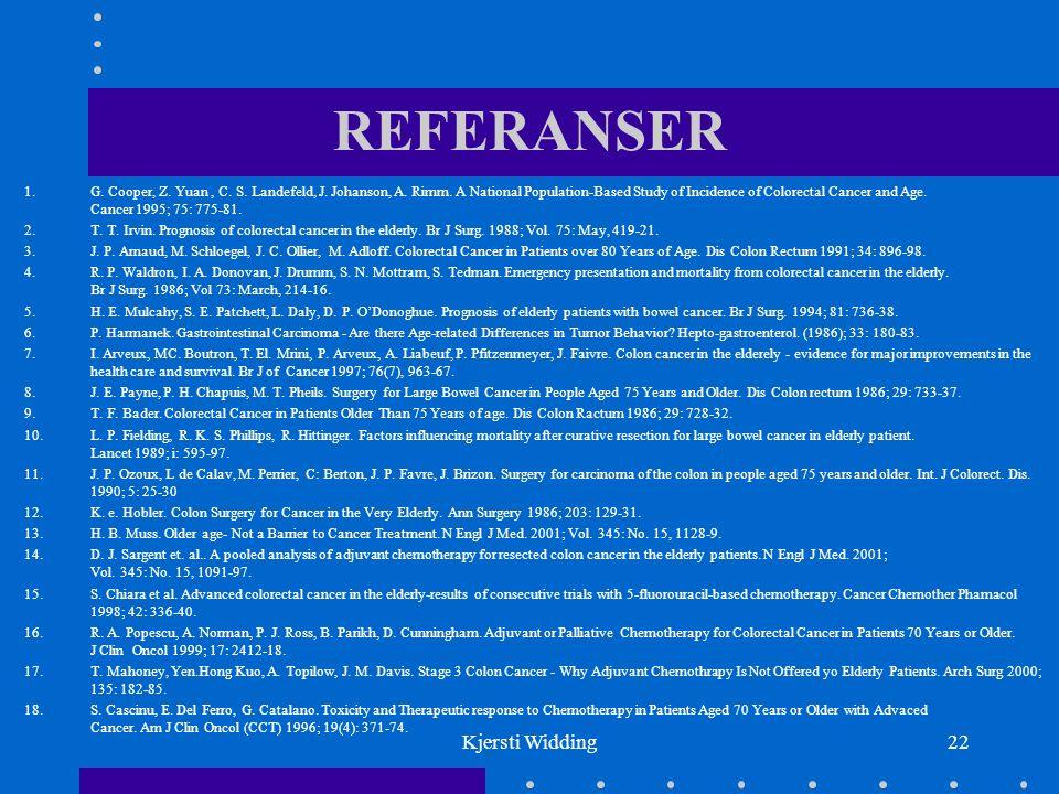 Kjersti Widding22 REFERANSER 1.G. Cooper, Z. Yuan, C.