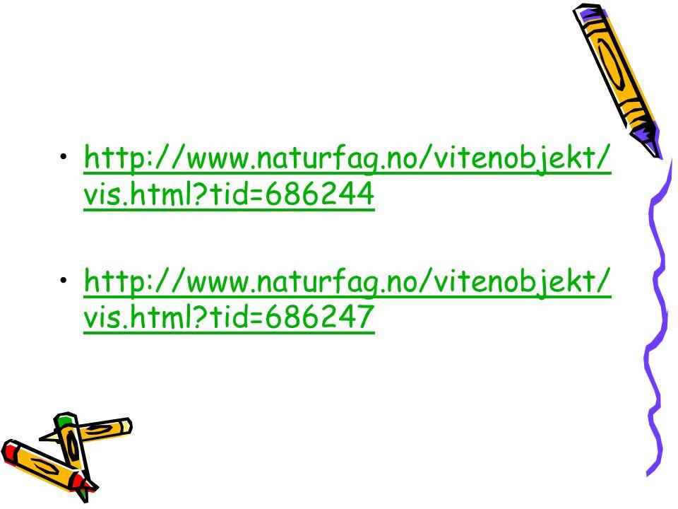 http://www.naturfag.no/vitenobjekt/ vis.html?tid=686244http://www.naturfag.no/vitenobjekt/ vis.html?tid=686244 http://www.naturfag.no/vitenobjekt/ vis.html?tid=686247http://www.naturfag.no/vitenobjekt/ vis.html?tid=686247