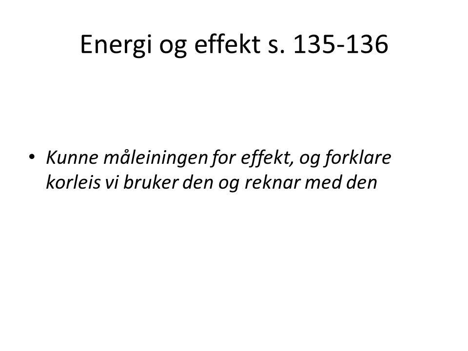 Energi og effekt s.