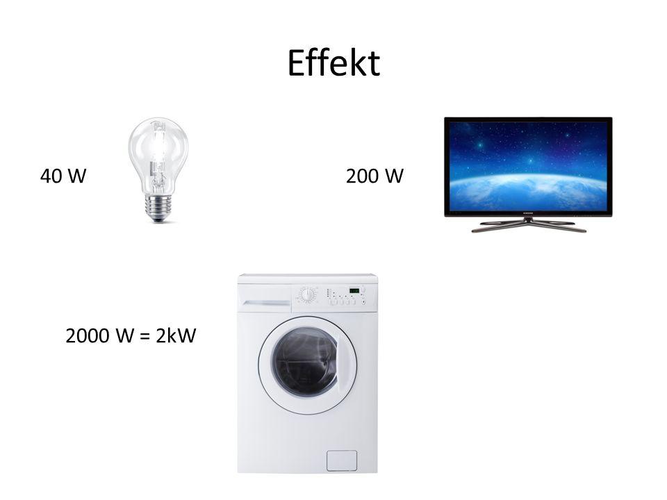 Effekt 40 W 2000 W = 2kW 200 W