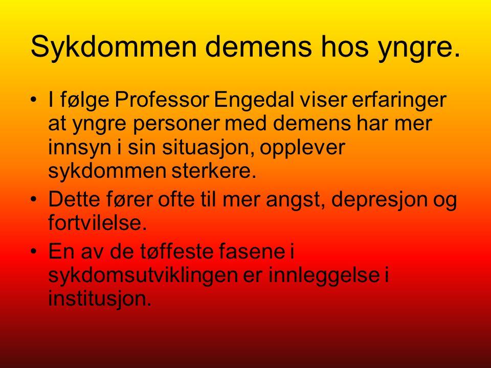 Sykdommen demens hos yngre.