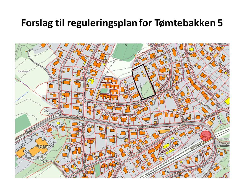 Forslag til reguleringsplan for Tømtebakken 5