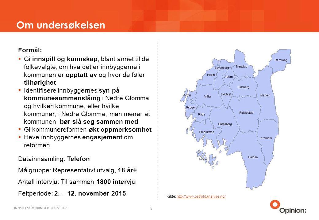 INNSIKT SOM BRINGER DEG VIDERE Mener du det er riktig å slå sammen kommuner i Nedre Glomma.