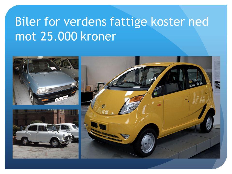 Biler for verdens fattige koster ned mot 25.000 kroner