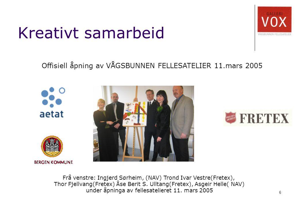 6 Frå venstre: Ingjerd Sørheim, (NAV) Trond Ivar Vestre(Fretex), Thor Fjellvang(Fretex) Åse Berit S.