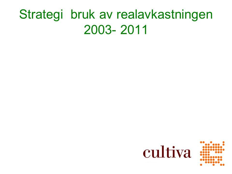 Strategi bruk av realavkastningen 2003- 2011