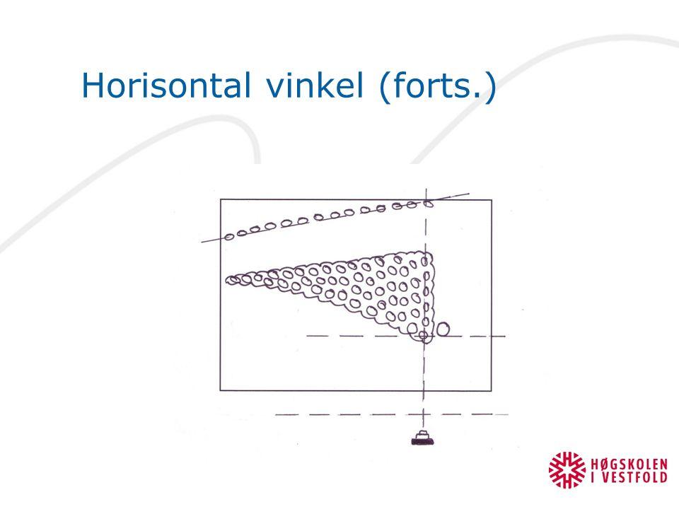 Horisontal vinkel (forts.)