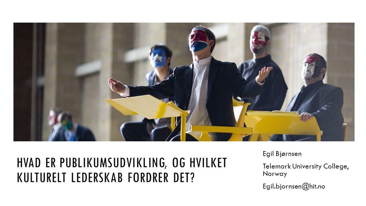 THE PANEL HVAD ER PUBLIKUMSUDVIKLING, OG HVILKET KULTURELT LEDERSKAB FORDRER DET.