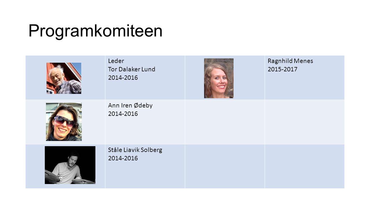 Programkomiteen Leder Tor Dalaker Lund 2014-2016 Ragnhild Menes 2015-2017 Ann Iren Ødeby 2014-2016 Ståle Liavik Solberg 2014-2016