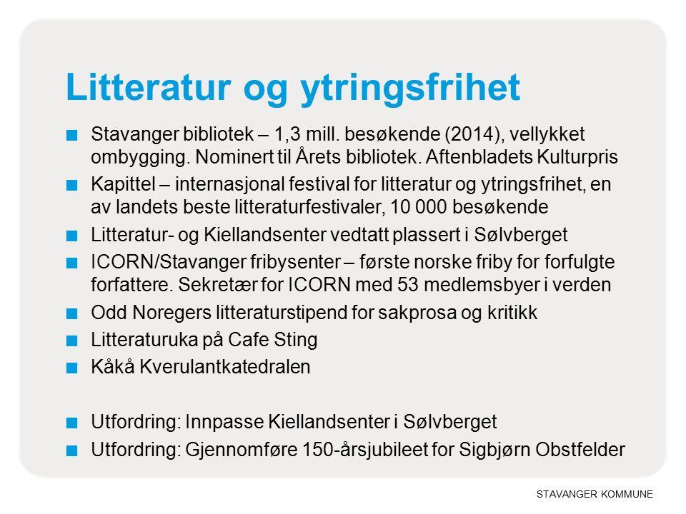 Litteratur og ytringsfrihet ■ Stavanger bibliotek – 1,3 mill.