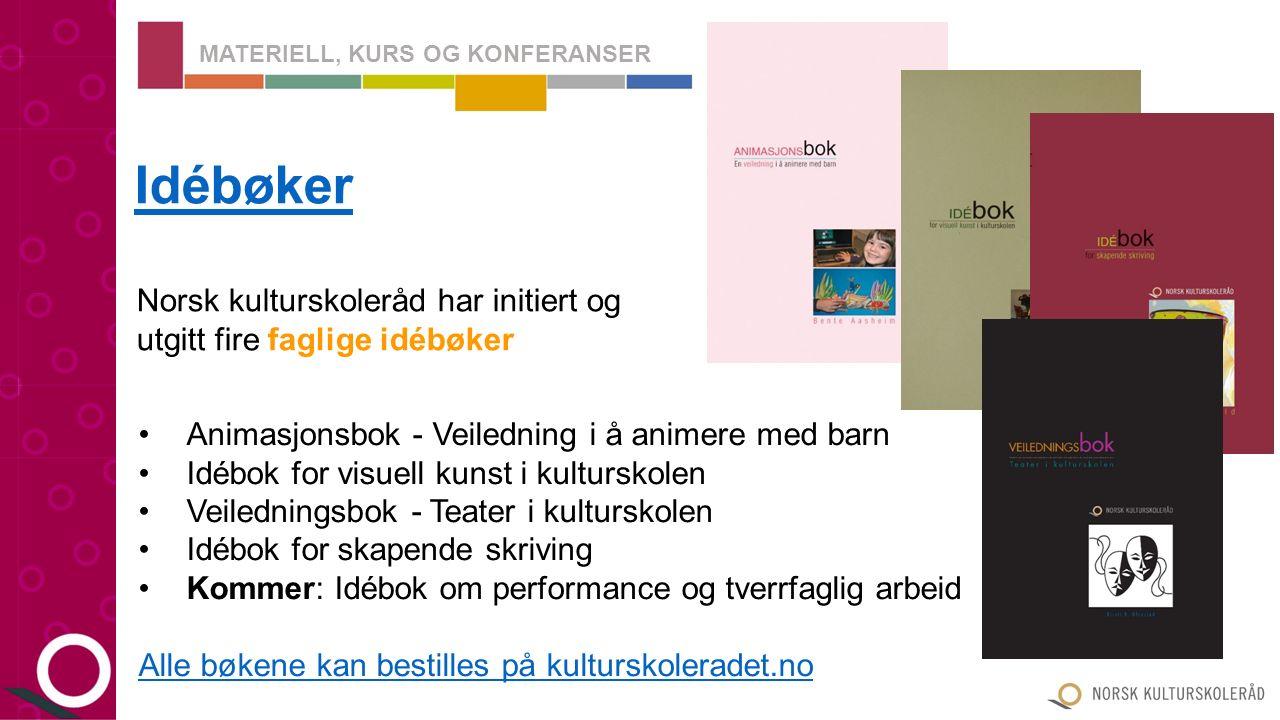 Norsk kulturskoleråd utgir årlig en kalender fylt med vakre illustrasjoner skapt av kulturskoleelever Kulturskolekalenderen MATERIELL, KURS OG KONFERANSER Kulturskolekalenderen 2016 Kan bestilles på kulturskoleradet.no kulturskoleradet.no