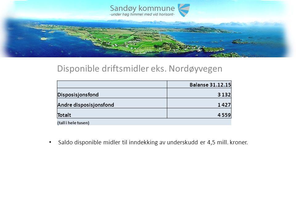Disponible driftsmidler eks.