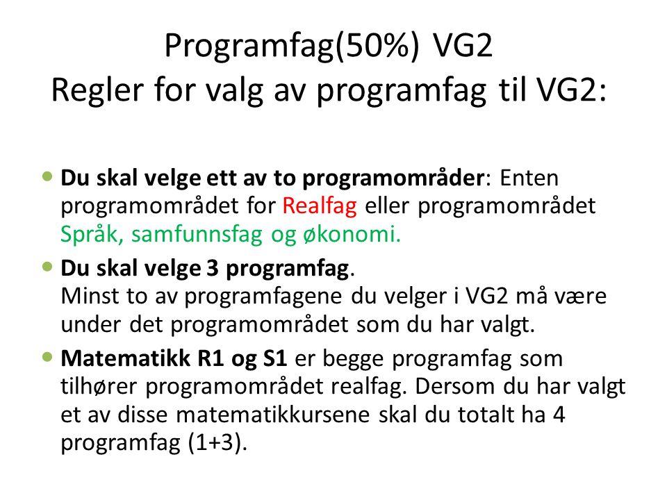 Du skal velge ett av to programområder: Enten programområdet for Realfag eller programområdet Språk, samfunnsfag og økonomi.