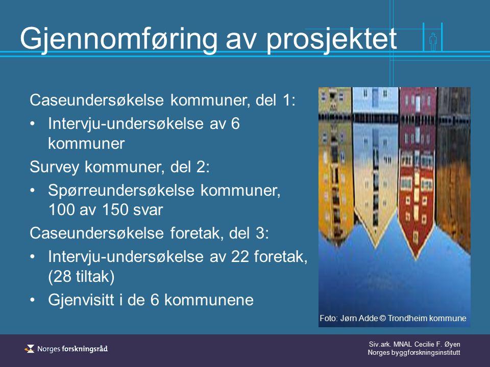 Siv.ark.MNAL Cecilie F. Øyen Norges byggforskningsinstitutt Hva var meningen.