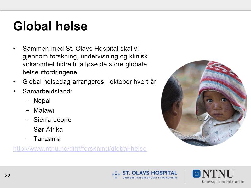 22 Global helse Sammen med St.