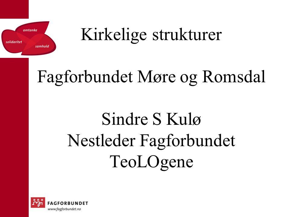 Kirkelige strukturer Fagforbundet Møre og Romsdal Sindre S Kulø Nestleder Fagforbundet TeoLOgene