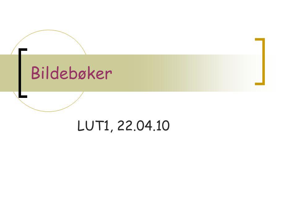 Bildebøker LUT1, 22.04.10
