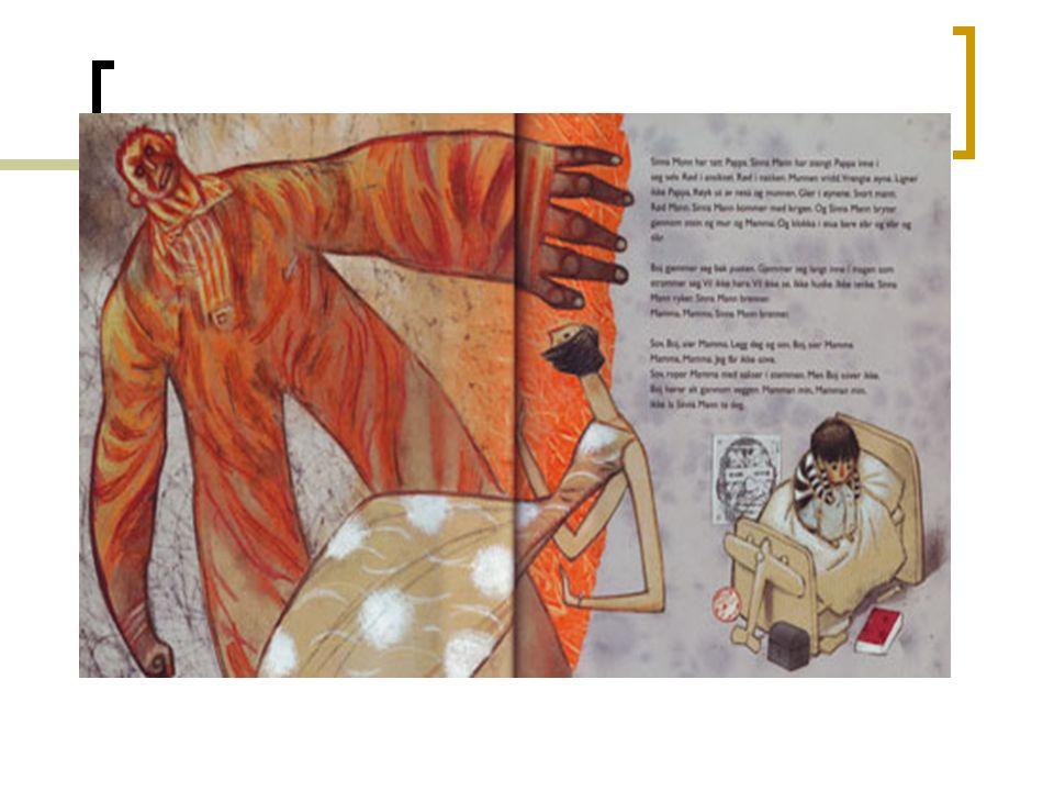 Definisjon på bildebok: Ei bok med eitt eller fleire bilde på kvart oppslag, og alla oppslaga i ei bildebok utgjer ein tematisk og dramaturgisk heilskap (Mjør 2006:115)