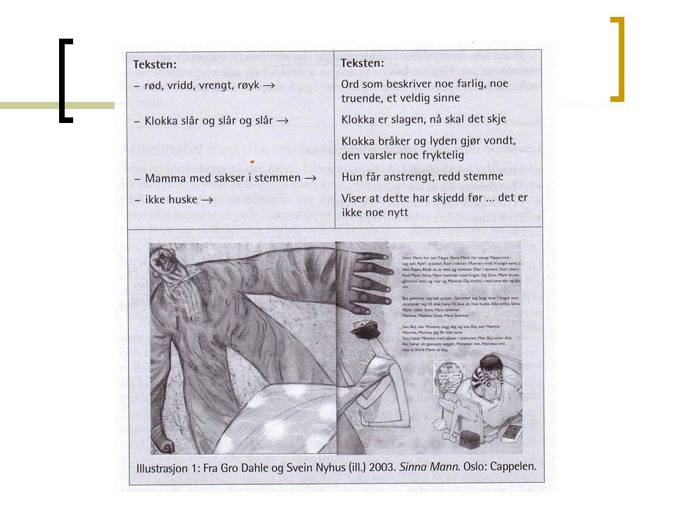 Andre trekk ved bildeboka Paratekster: gjøre leseren interessert og nysgjerrig, eks.