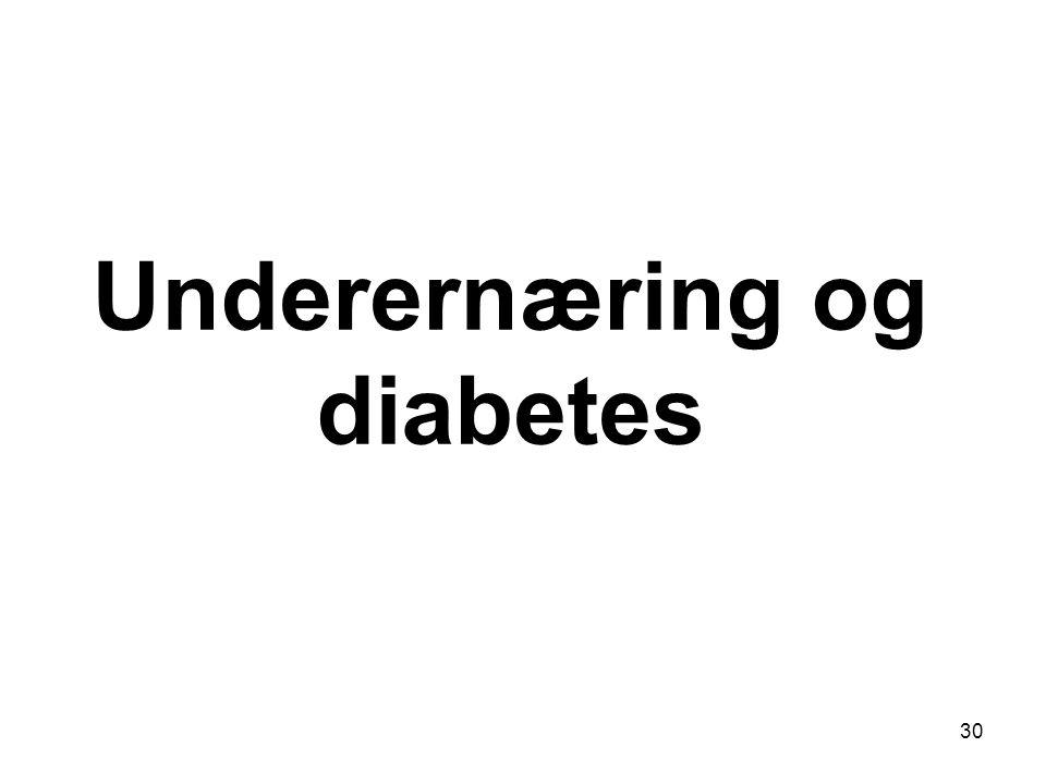 Underernæring og diabetes 30