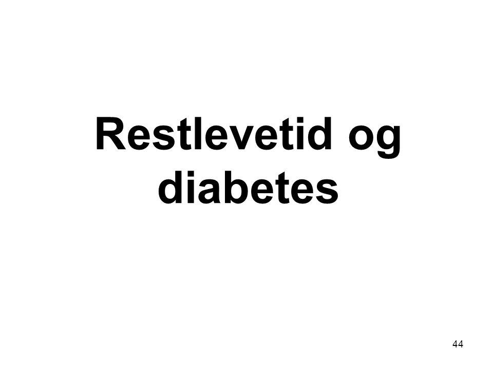 Restlevetid og diabetes 44