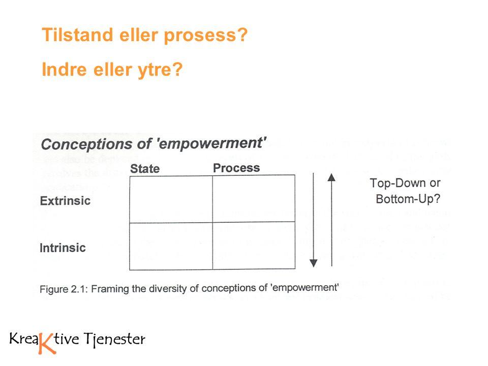 Tilstand eller prosess Indre eller ytre