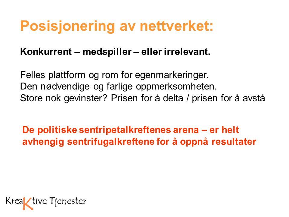 Posisjonering av nettverket: Konkurrent – medspiller – eller irrelevant.