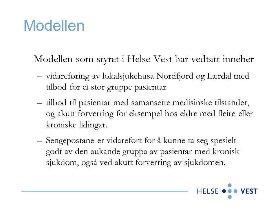 Styrevedtak i Helse Vest RHF 1.Styret i Helse Vest sluttar seg til organisering av spesialisthelsetenesta i Helse Førde HF i samsvar med modell 2 slik den er beskrive i saksframlegget.